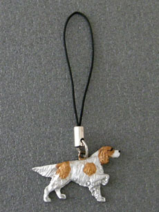 Irish Red & White Setter - Cell Phone Charm
