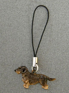 Dachshund Wire - Cell Phone Charm