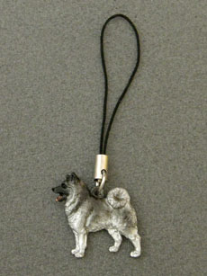 Norwegian Elkhound - Cell Phone Charm