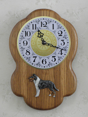 Collie Smooth - Wall Clock Rustical Figure