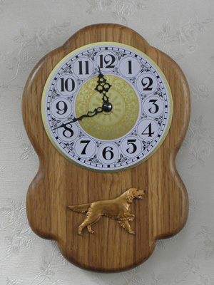 Irish Setter - Wall Clock Rustical Figure