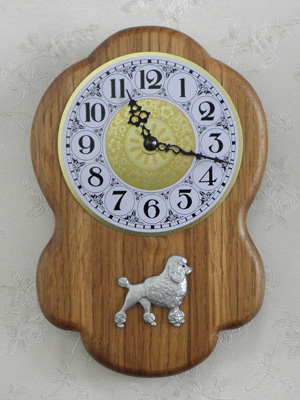 Poodle Classic - Wall Clock Rustical Figure