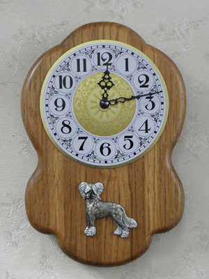 Chinese Crested Dog - Wall Clock Rustical Figure