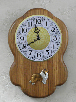 Sheltie - Wall Clock Rustical Figure