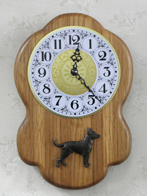 Mexican Hairless - Wall Clock Rustical Figure