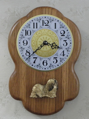 Lhasa Apso - Wall Clock Rustical Figure