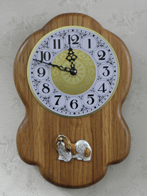Shih-tzu - Wall Clock Rustical Figure