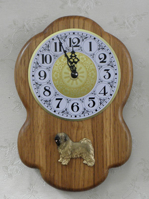 Tibetan Terrier - Wall Clock Rustical Figure