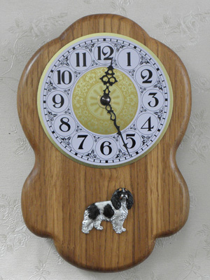 Cavalier King Charles Spaniel - Wall Clock Rustical Figure