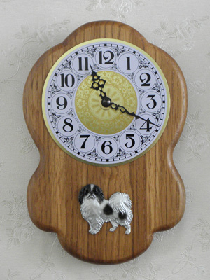 Japanese Chin - Wall Clock Rustical Figure