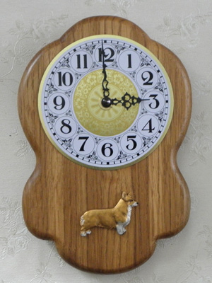 Welsh Corgi Pembroke - Wall Clock Rustical Figure