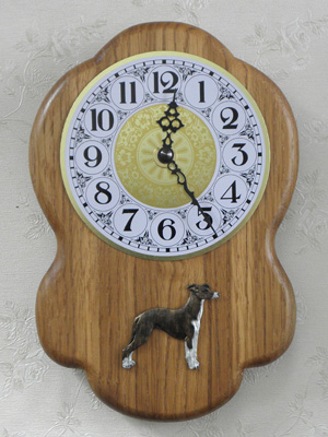 Whippet - Wall Clock Rustical Figure