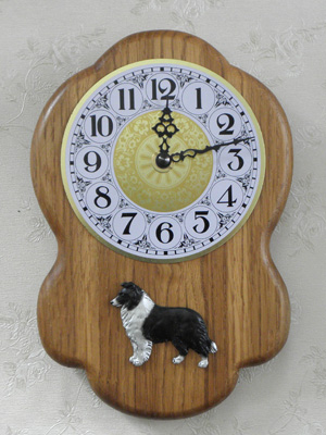 Border Collie - Wall Clock Rustical Figure