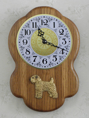 Soft Coated Wheaten Terrier - Wall Clock Rustical Figure