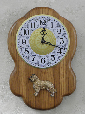 Pyrenean Shepherd Dog - Wall Clock Rustical Figure