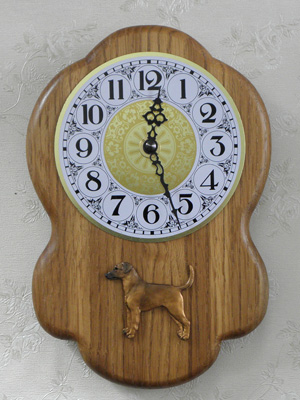German Pinscher - Wall Clock Rustical Figure