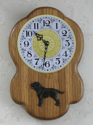 Dogo Canario - Wall Clock Rustical Figure