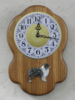 Australian Shepherd - Wall Clock Rustical Figure