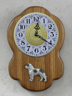 American Bulldog - Wall Clock Rustical Figure