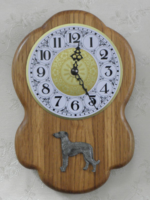 Spanish Galgo - Wall Clock Rustical Figure