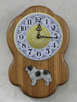 Pyrenean Mastiff - Wall Clock Rustical Figure