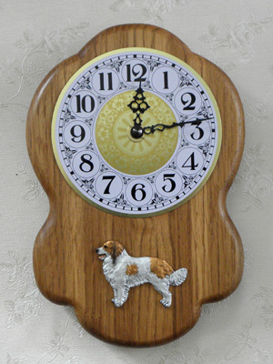 Kooikerhondje - Wall Clock Rustical Figure