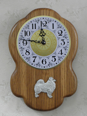 Japanese Spitz - Wall Clock Rustical Figure