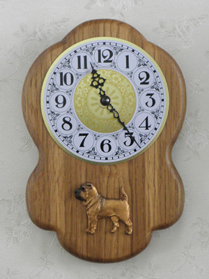 Sharpei - Wall Clock Rustical Figure