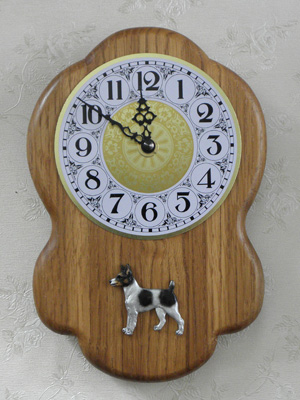 Tenterfield Terrier - Wall Clock Rustical Figure