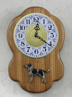Bohemian Spotted Dog - Wall Clock Rustical Figure