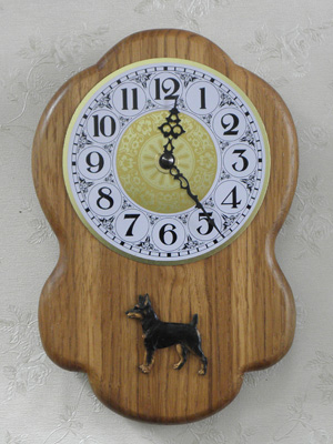 Rat Terrier - Wall Clock Rustical Figure