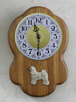 Chinese Crested Dog - Powderpuff  - Wall Clock Rustical Figure