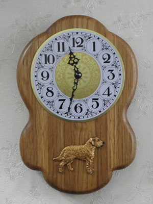 Styrian Coarse haired hound - Wall Clock Rustical Figure