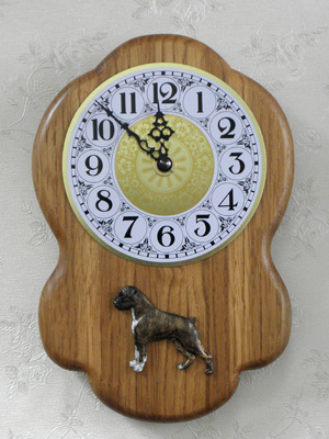 Boxer - Wall Clock Rustical Figure