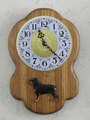 Rottweiler - Wall Clock Rustical Figure
