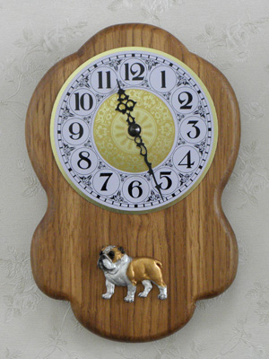 English Bulldog - Wall Clock Rustical Figure