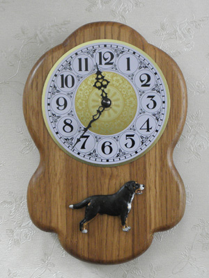 Large Swiss Mountain Dog - Wall Clock Rustical Figure