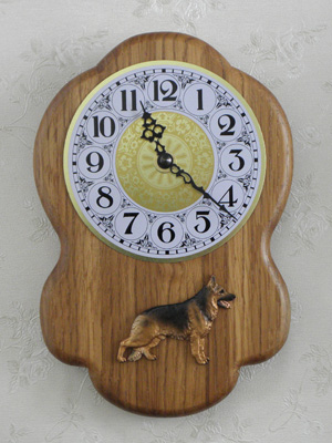 German Shepherd - Wall Clock Rustical Figure
