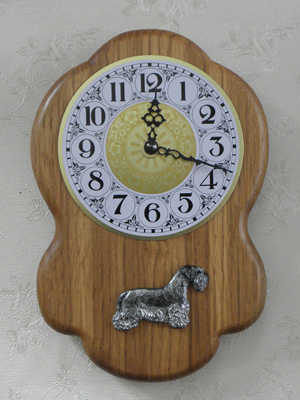Bohemian Terrier - Wall Clock Rustical Figure