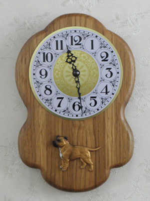 Staffordshire Bullterrier - Wall Clock Rustical Figure