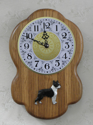 Boston Terrier - Wall Clock Rustical Figure