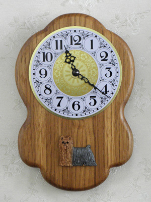 Yorkshire Terrier - Wall Clock Rustical Figure