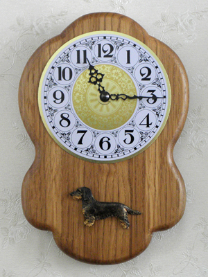 Dachshund Wire - Wall Clock Rustical Figure