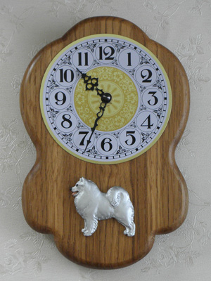 Samoyed - Wall Clock Rustical Figure