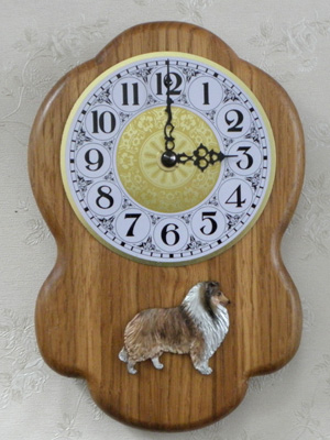 Collie Rough - Wall Clock Rustical Figure
