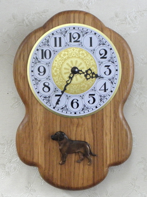 Hanoverian Hound - Wall Clock Rustical Figure