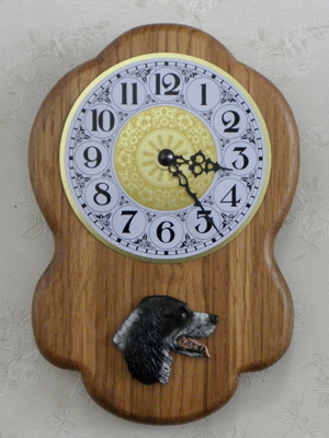 English Setter - Wall Clock Rustical Head