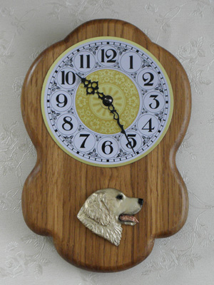 Golden Retriever - Wall Clock Rustical Head