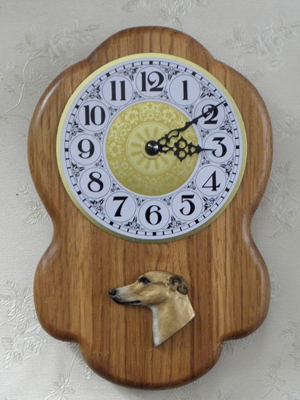 Whippet - Wall Clock Rustical Head