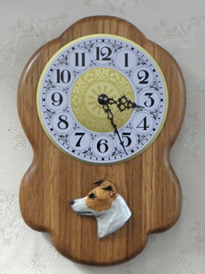Jack Russell Terrier - Wall Clock Rustical Head